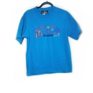 Vintage Disneyland Mickey Mouse Embroidered Tee